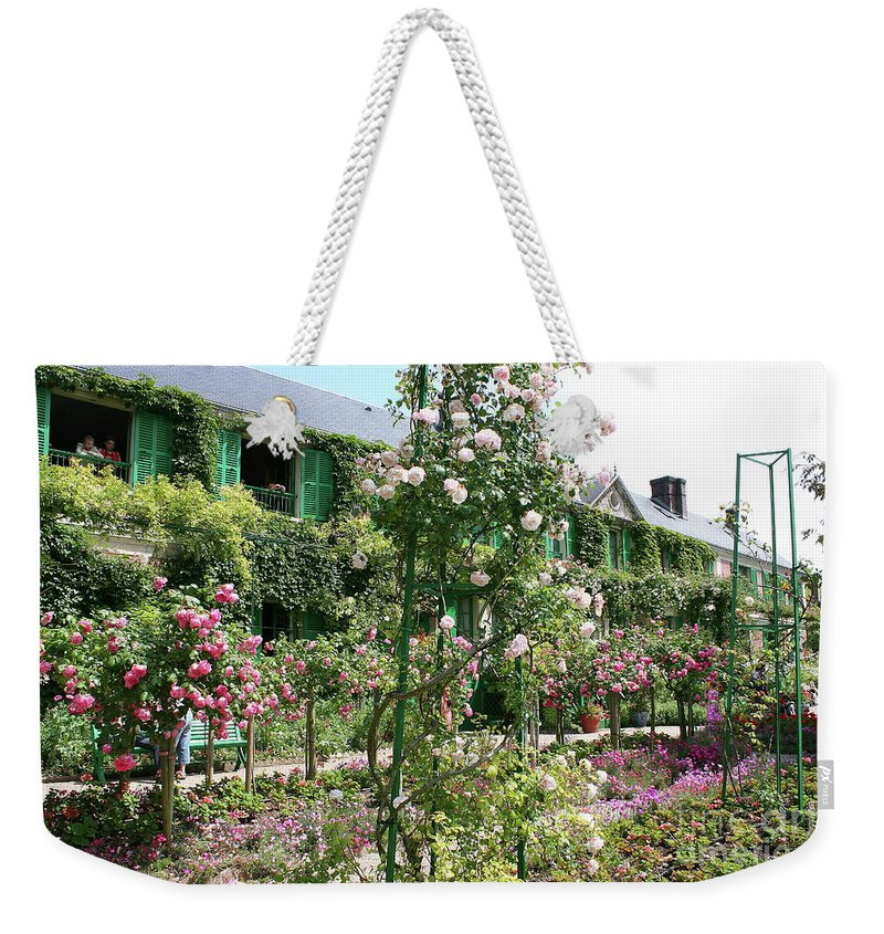 House Weekender Tote Bag featuring the photograph Claude Monets House - Giverney by Christiane Schulze Art And Photography
