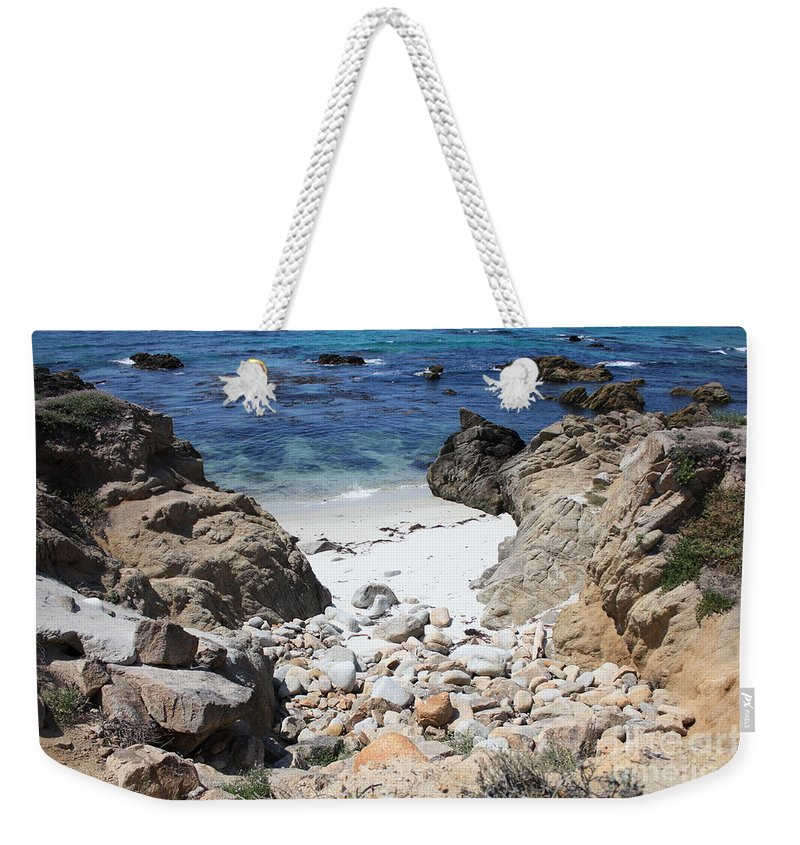 Landscape Weekender Tote Bag featuring the photograph Clear California Cove by Carol Groenen