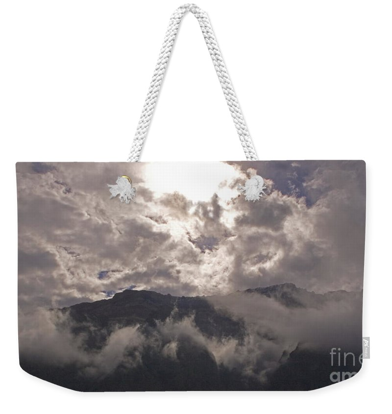 Beartooth Mountains Weekender Tote Bag featuring the photograph Clearing Clark's Fork Storm by J L Woody Wooden