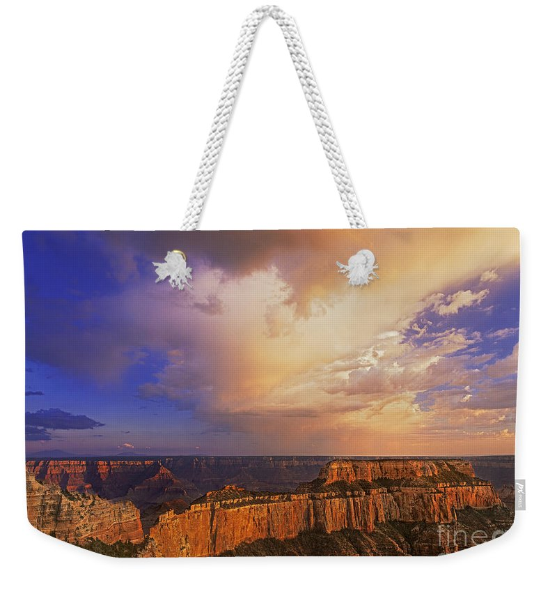 Grand Canyon Weekender Tote Bag featuring the photograph Clearing Storm Cape Royal North Rim Grand Canyon Np Arizona by Dave Welling