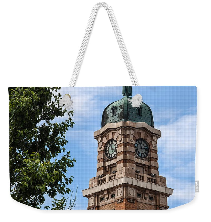 Cleveland West Side Market Tower Weekender Tote Bag featuring the photograph Cleveland West Side Market Tower by Dale Kincaid