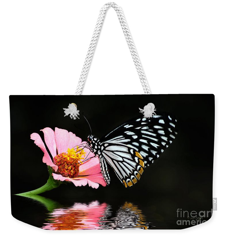 Butterfly Weekender Tote Bag featuring the photograph Cliche by Lois Bryan