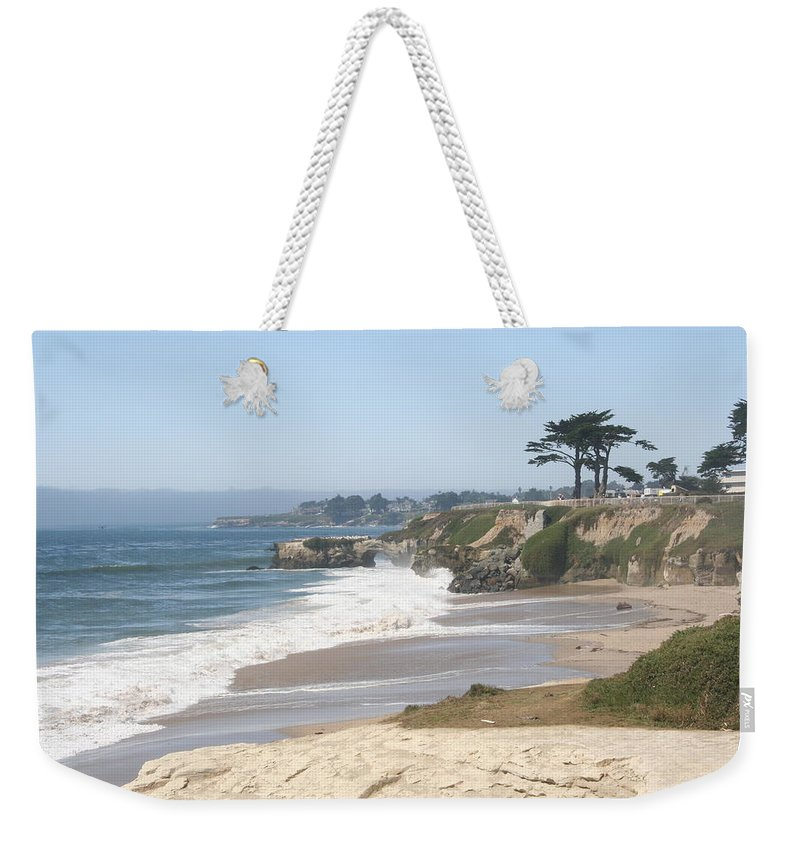 Coast Weekender Tote Bag featuring the photograph Santa Cruz Cliffline by Christiane Schulze Art And Photography