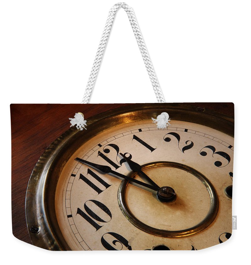 Very Weekender Tote Bag featuring the photograph Clock face by Johan Swanepoel