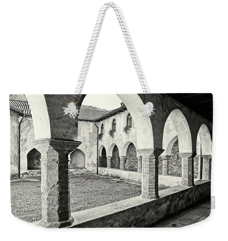 Architecture Weekender Tote Bag featuring the photograph Cloister by Roberto Pagani