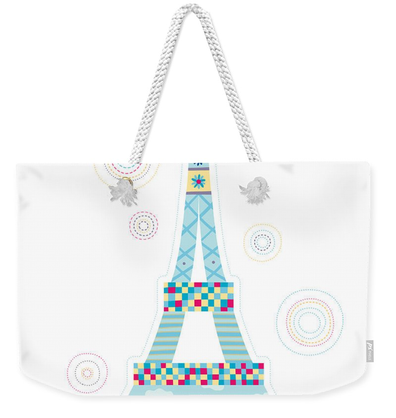 Event Weekender Tote Bag featuring the digital art Close-up Of Tower by Eastnine Inc.