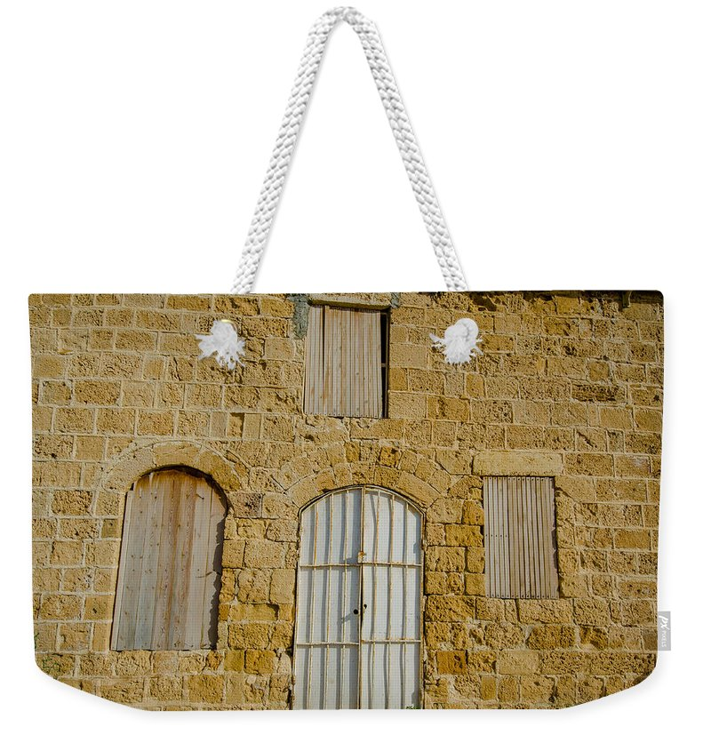 Jaffa Weekender Tote Bag featuring the photograph Closed For Business by David Morefield