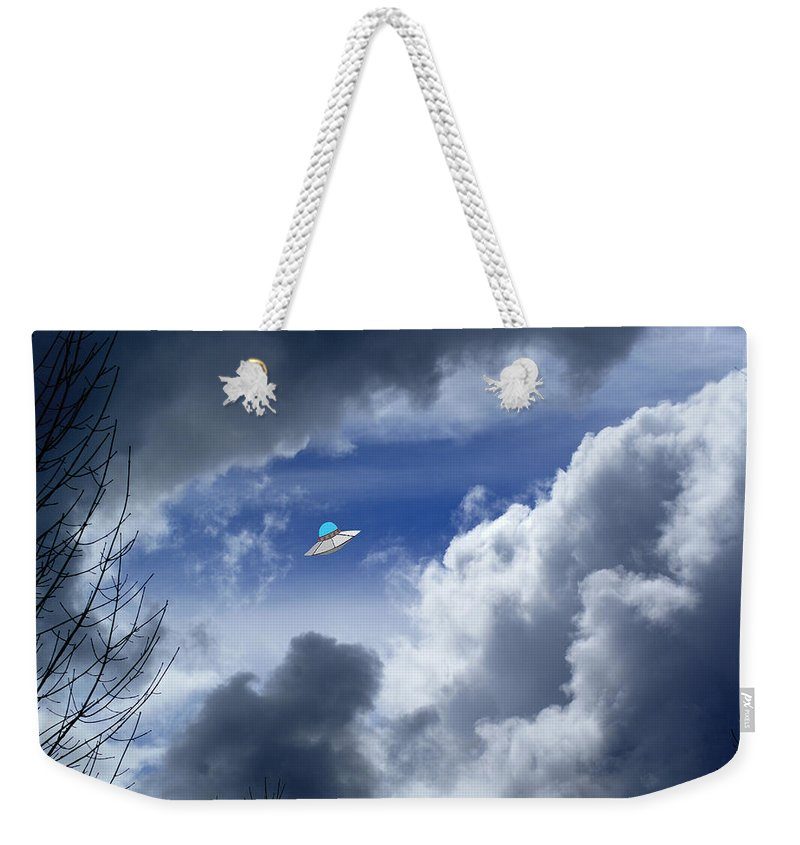 Aliens Weekender Tote Bag featuring the photograph Cloud Surfing by Ben Upham III