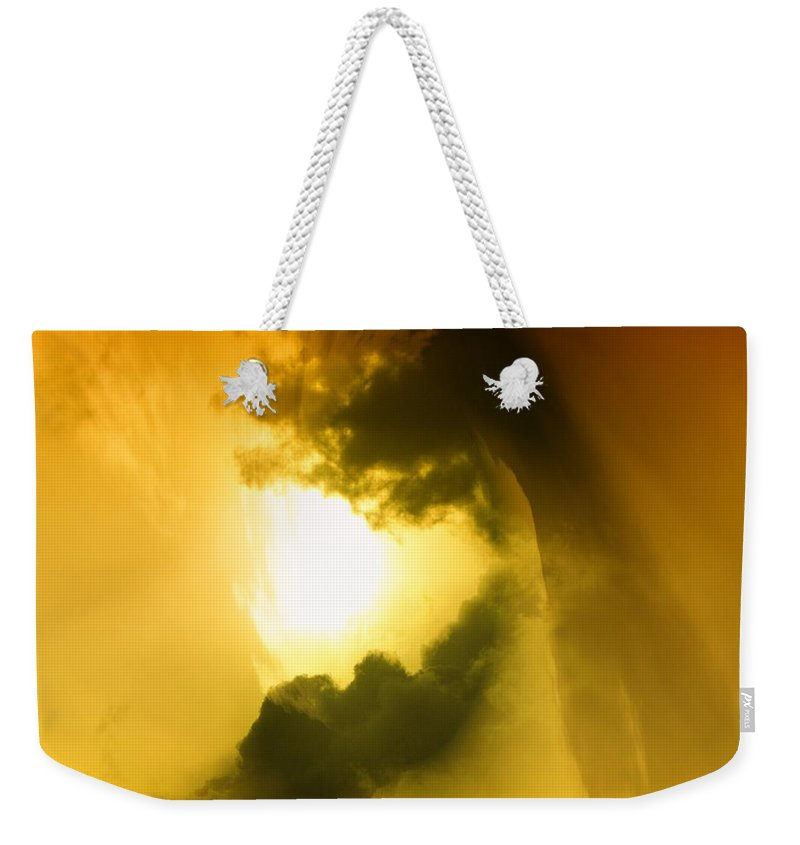 Clouds Weekender Tote Bag featuring the photograph Cloud Whirl by Jeff Swan