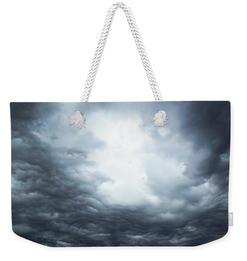 Thunderstorm Weekender Tote Bag featuring the photograph Cloudburst by Sheryl Chapman Photography
