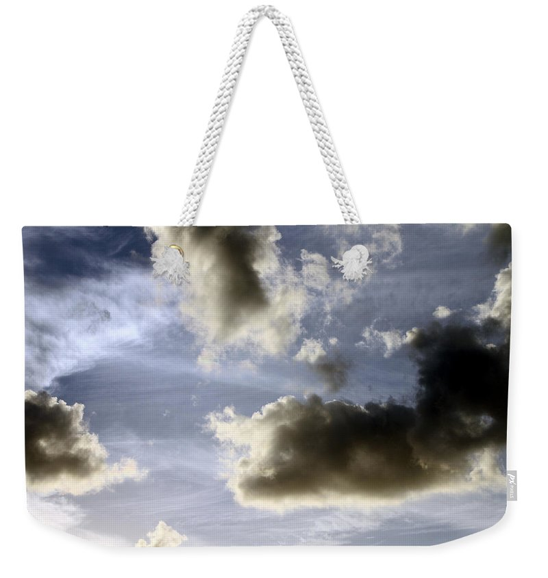 Sky Weekender Tote Bag featuring the photograph Clouds 1 by Bob Slitzan