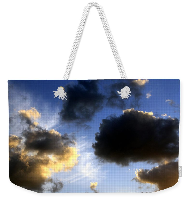 Sky Weekender Tote Bag featuring the photograph Clouds 5 by Bob Slitzan