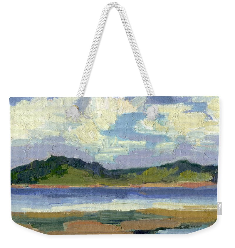 Clouds Weekender Tote Bag featuring the painting Clouds At Vashon Island by Diane McClary
