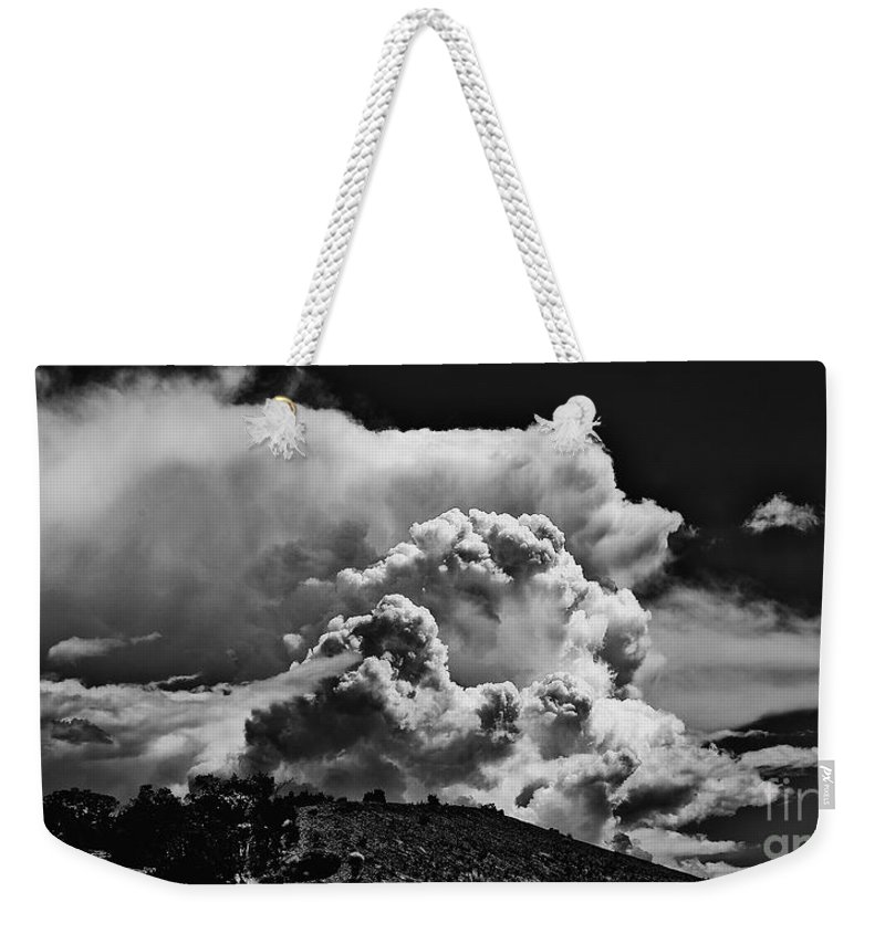 Clouds Weekender Tote Bag featuring the photograph Clouds Over Santa Fe by Madeline Ellis