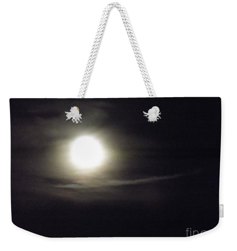 Clouds Weekender Tote Bag featuring the photograph Clouds Passing In The Night by Jennifer Lavigne