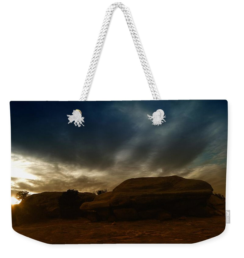 Utah Weekender Tote Bag featuring the photograph Clouds Scape by Jeff Swan