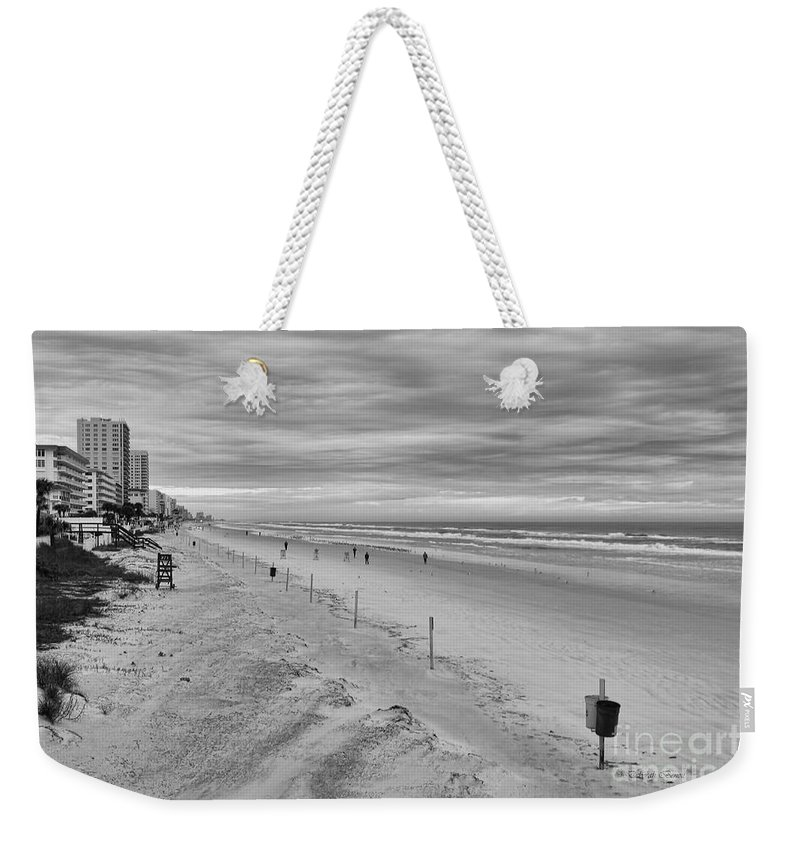 Beach Weekender Tote Bag featuring the photograph Cloudy Beach Morning by Deborah Benoit