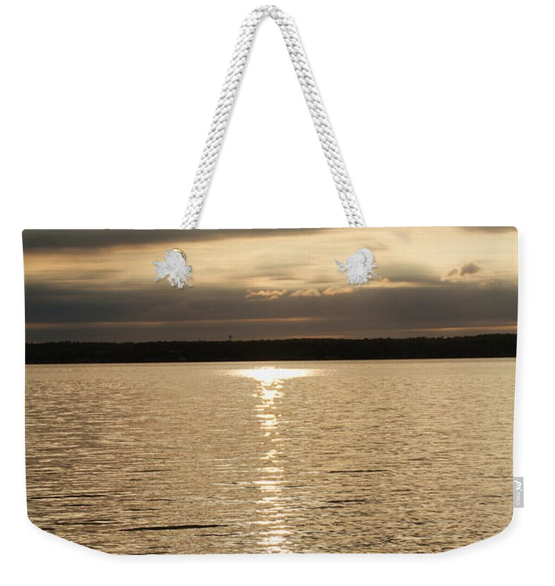 Sunrise Weekender Tote Bag featuring the photograph Cloudy Sunrise by William Norton