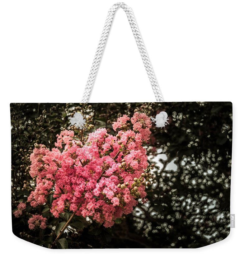 Flowers Weekender Tote Bag featuring the photograph Clump Of Flowers by Jon Cody
