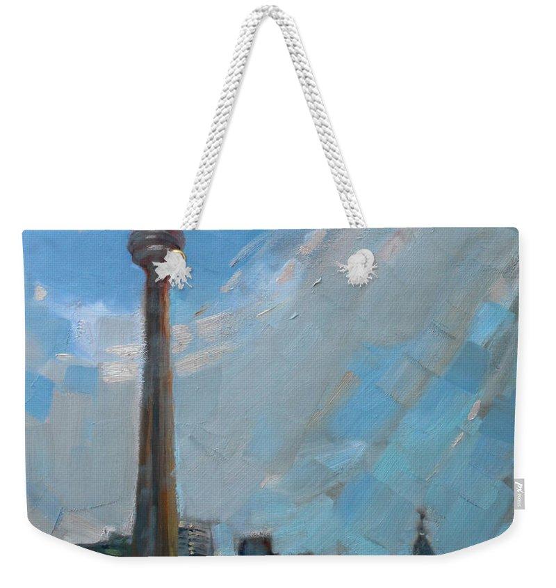Cn Tower Weekender Tote Bags