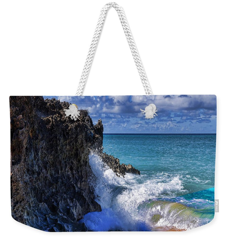 Beach Weekender Tote Bag featuring the photograph Coast 5 by Ingrid Smith-Johnsen