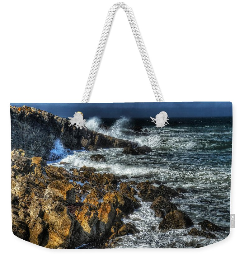 Beach Weekender Tote Bag featuring the photograph Coast 6 by Ingrid Smith-Johnsen