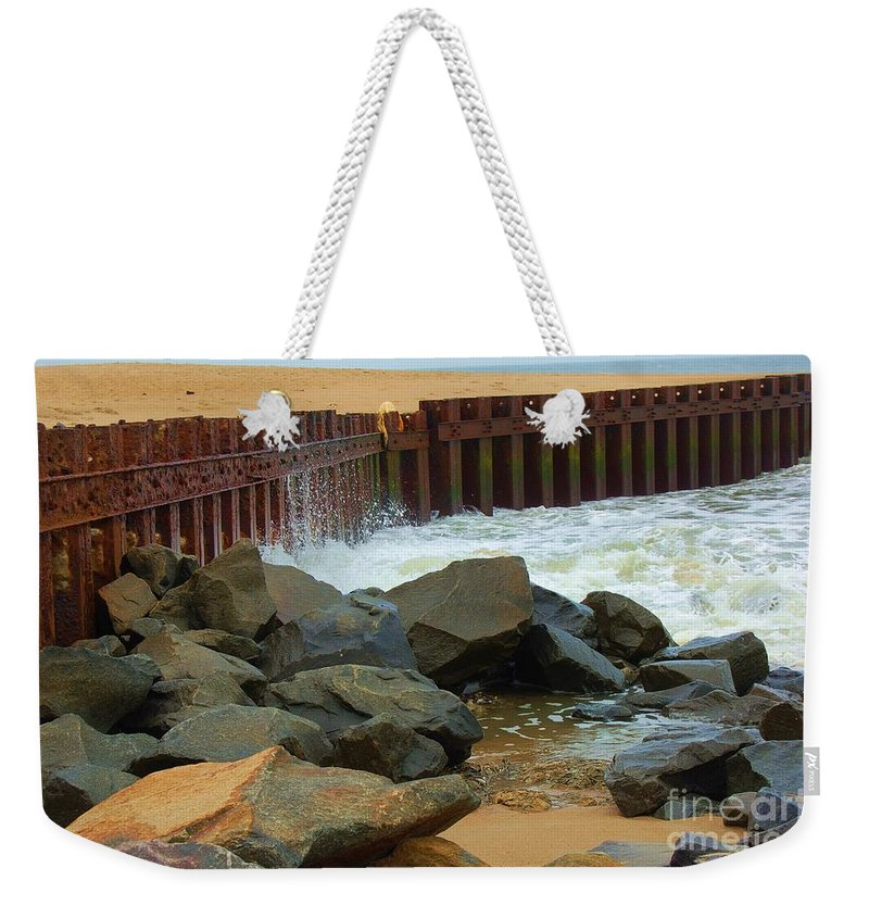 Water Weekender Tote Bag featuring the photograph Coast Of Carolina by Debbi Granruth