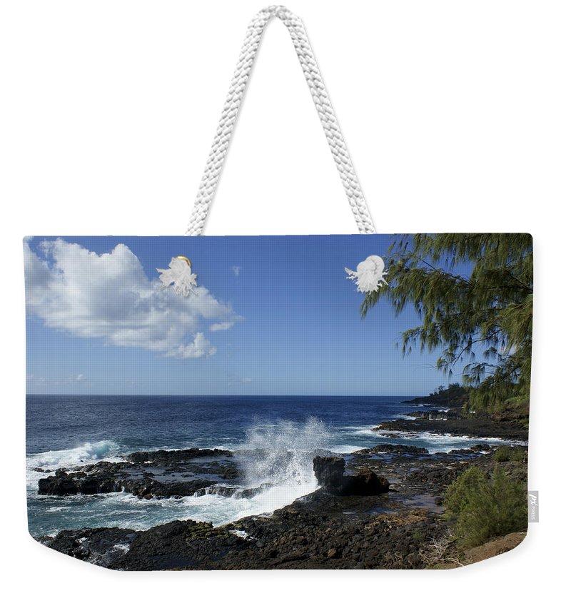 Kauai Weekender Tote Bag featuring the photograph Coast Of Kauai by Brian Kamprath