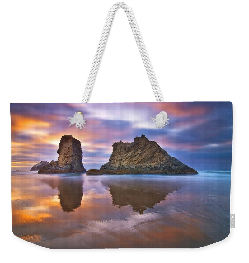 Clouds Weekender Tote Bag featuring the photograph Coastal Cloud Dance by Darren White