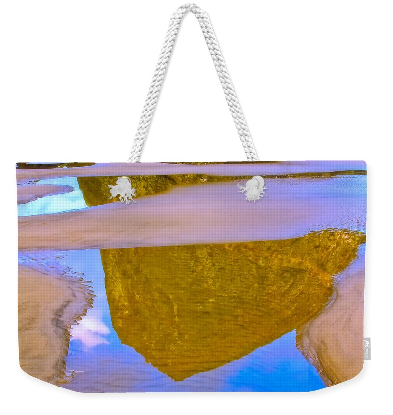 Nature Weekender Tote Bag featuring the photograph Coastal Landscape In Abstract 2 by Jonathan Nguyen