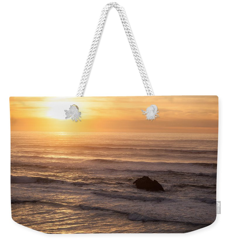 Hug Point Weekender Tote Bag featuring the photograph Coastal Rhythm by Mike Reid