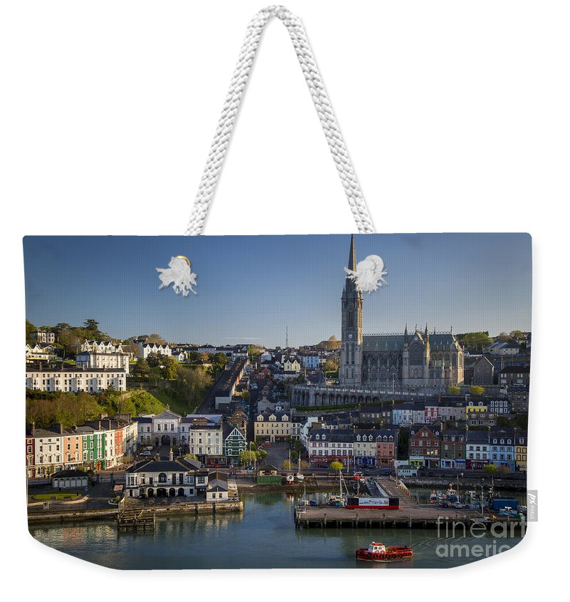 Architectural Weekender Tote Bag featuring the photograph Cobh Harbor Ireland by Brian Jannsen