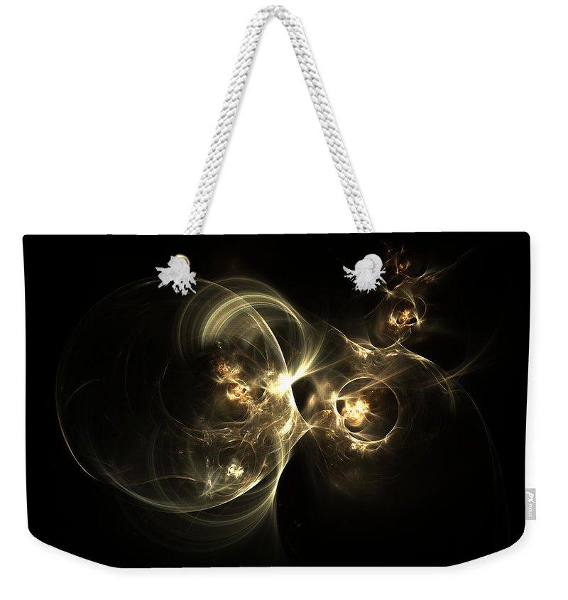 Cocoon Weekender Tote Bag featuring the digital art Cocoon by Kiki Art