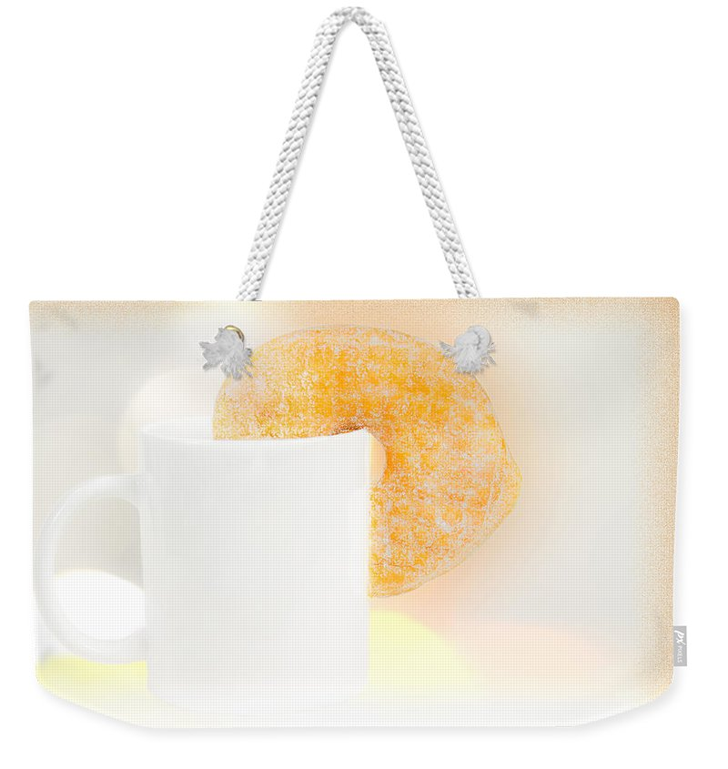 Coffee And Donuts Weekender Tote Bag featuring the photograph Coffee And Donuts Two by Bob Orsillo
