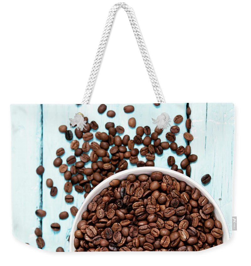 Heap Weekender Tote Bag featuring the photograph Coffee Beans by Barcin
