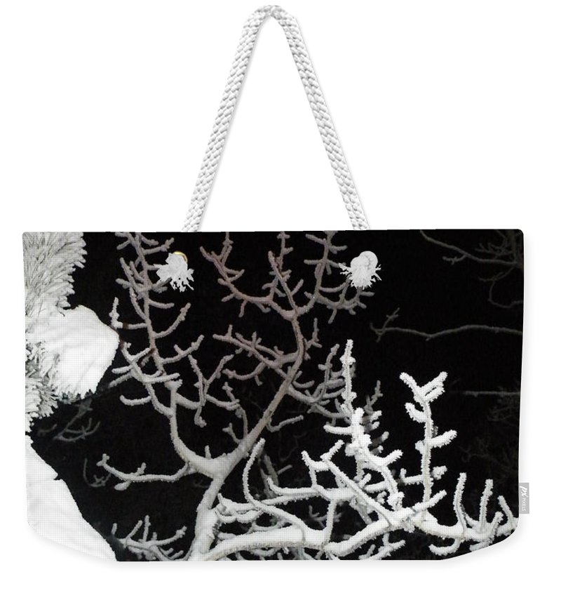 Midnight Weekender Tote Bag featuring the photograph Cold Hearted by Brian Boyle