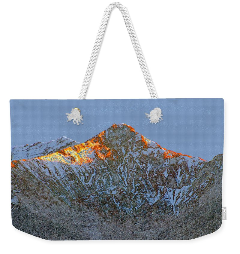 Art Weekender Tote Bag featuring the painting Cold Mountain by David Lee Thompson