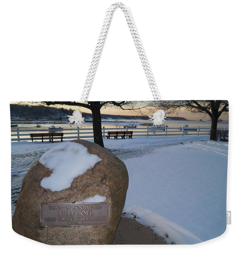 Billy Joel Weekender Tote Bag featuring the photograph Cold Stone by John Wall