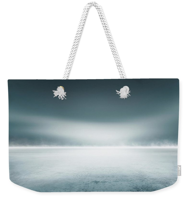 Tranquility Weekender Tote Bag featuring the digital art Cold Studio Background by Aaron Foster