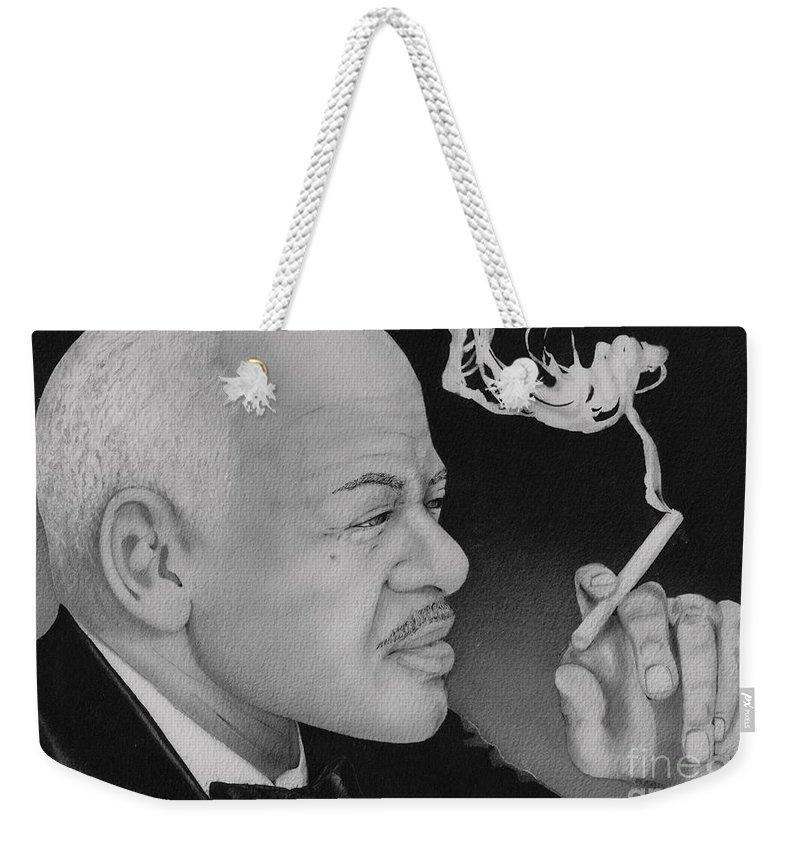 Sax Weekender Tote Bag featuring the painting Coleman Hawkins by JL Vaden