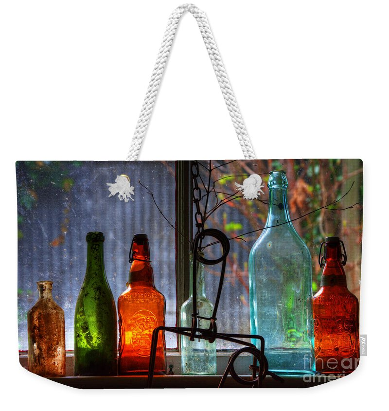 Glass Weekender Tote Bag featuring the photograph Collecting Memories by Bob Christopher