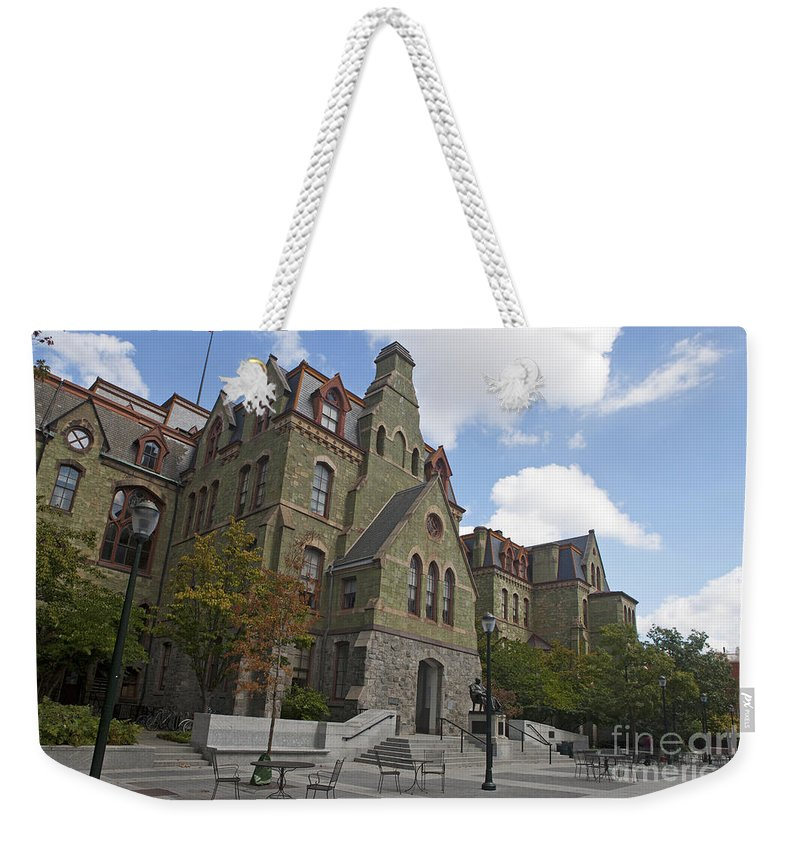 University Of Pennsylvania Weekender Tote Bag featuring the photograph College Hall University Of Pennsylvania by Jason O Watson