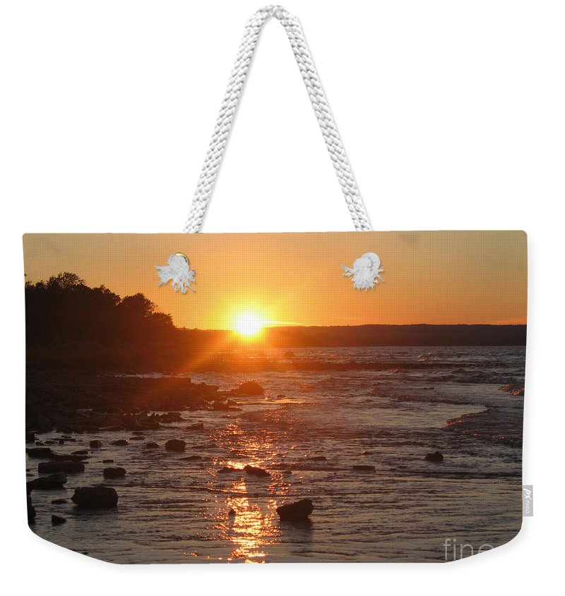 Sunset Weekender Tote Bag featuring the photograph Collingwood-2 by Chris Van Es