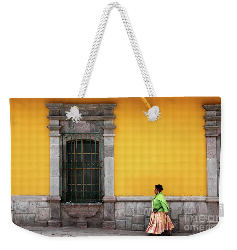 Peru Weekender Tote Bag featuring the photograph Colonial Puno by James Brunker