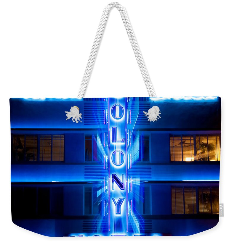 Colony Hotel Weekender Tote Bag featuring the photograph Colony Hotel 2 by Dave Bowman