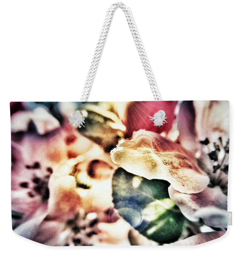 Flower Weekender Tote Bag featuring the photograph Color Me Pretty... by Marianna Mills