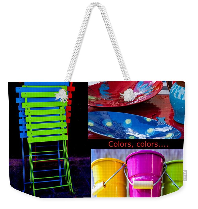 Colors Weekender Tote Bag featuring the photograph Color Your Life 1 by Dany Lison