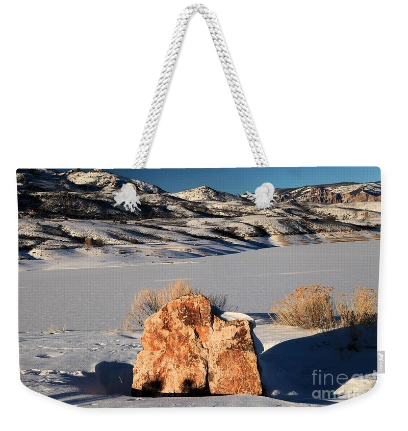 Blue Mesa Reservoir Weekender Tote Bag featuring the photograph Colorado Glow by Adam Jewell