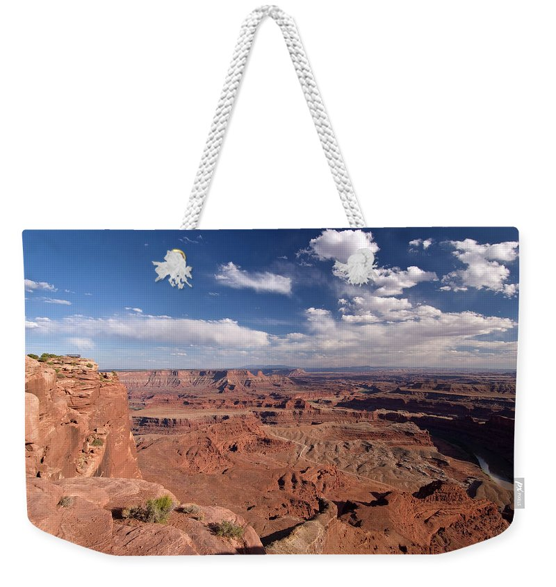 Scenics Weekender Tote Bag featuring the photograph Colorado River Canyon From Dead Horse by John Elk