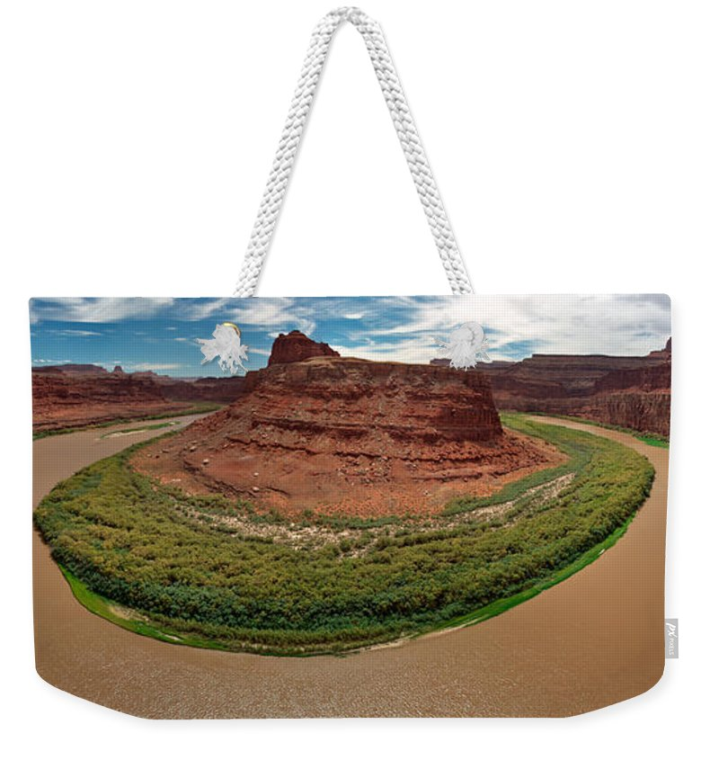 3scape Photos Weekender Tote Bag featuring the photograph Colorado River Gooseneck by Adam Romanowicz